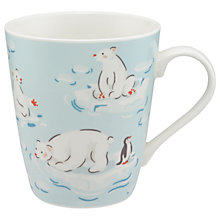 Buy Cath Kidston Polar Bears Mug, Ice Blue, 475ml Online at johnlewis.com