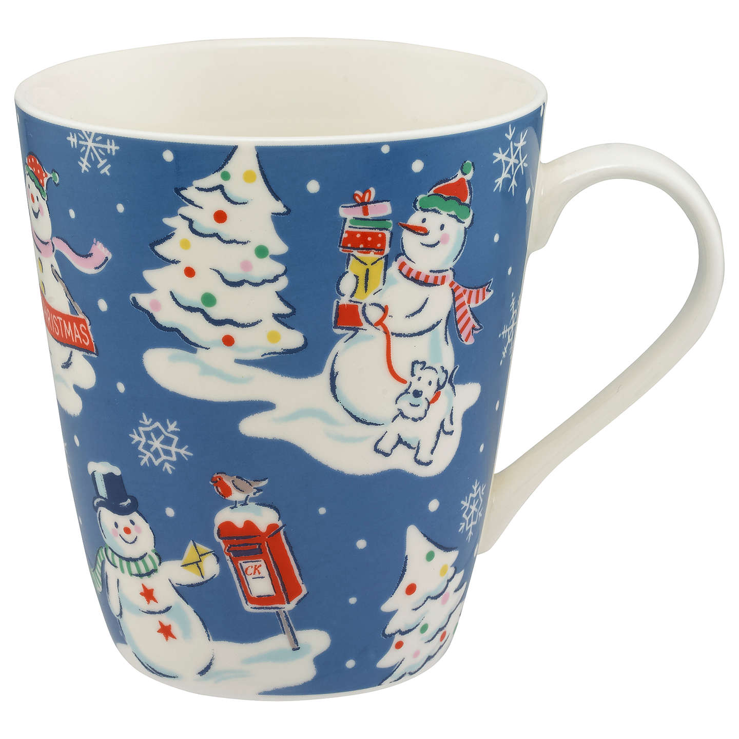 BuyCath Kidston Snowmen Mug, Blue, 475ml Online at johnlewis.com
