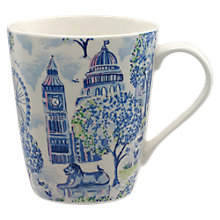 Buy Cath Kidston London Toile Stanley Mug, Blue/Multi, 475ml Online at johnlewis.com