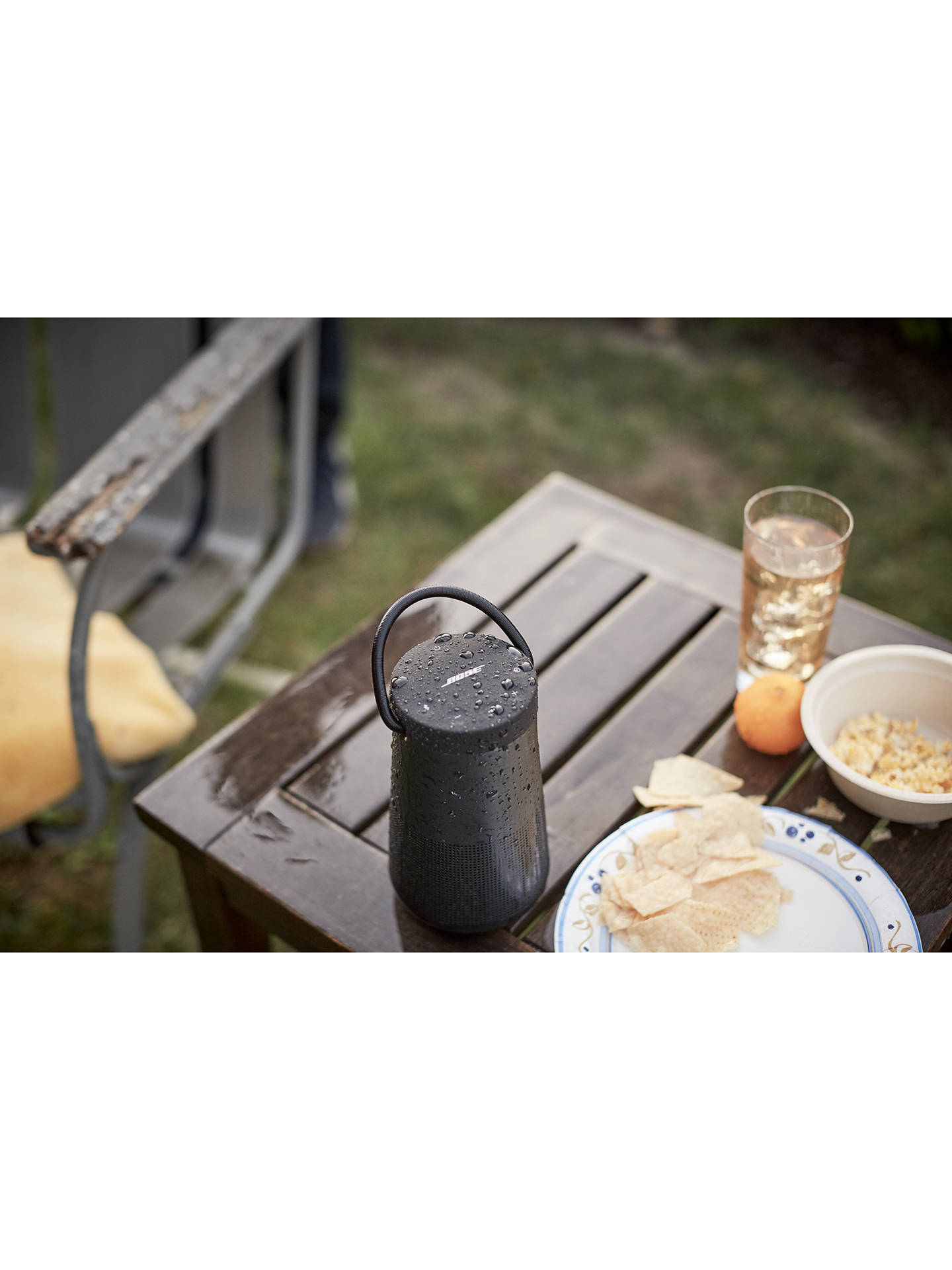 Buy Bose® SoundLink® Revolve+ Water-resistant Portable Bluetooth Speaker with Built-in Speakerphone & Handle, Triple Black Online at johnlewis.com