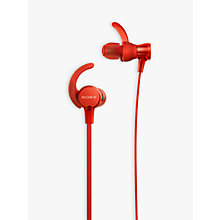 Buy Sony MDR-XB510AS Extra Bass Splash Resistant Sports In-Ear Headphones with Mic/Remote Online at johnlewis.com