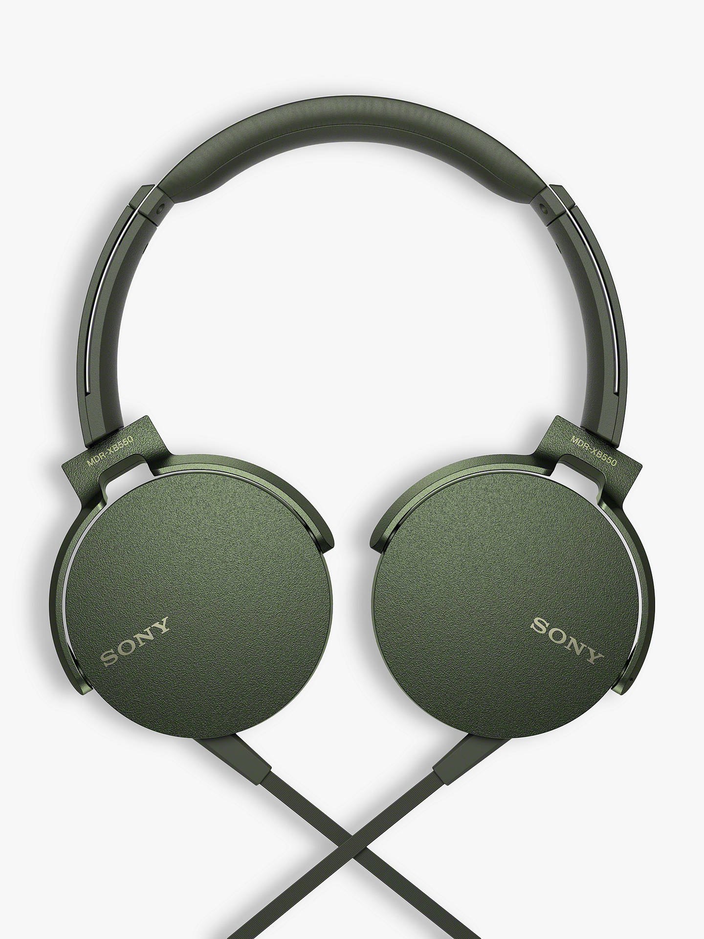 BuySony MDR-XB550AP Extra Bass On-Ear Headphones with Mic/Remote, Green Online at johnlewis.com