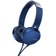 Buy Sony MDR-XB550AP Extra Bass On-Ear Headphones with Mic/Remote Online at johnlewis.com