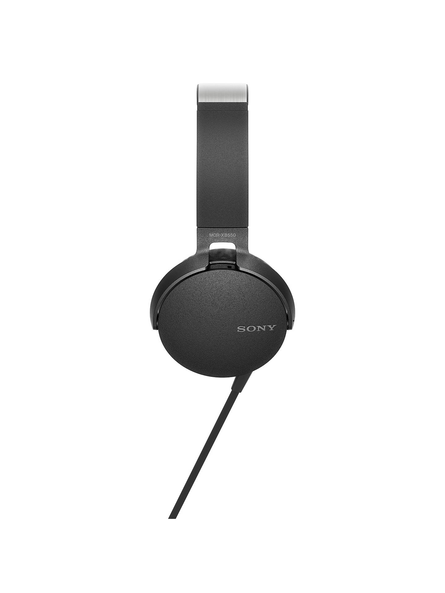 ... BuySony MDR-XB550AP Extra Bass On-Ear Headphones with Mic/Remote, Black ...