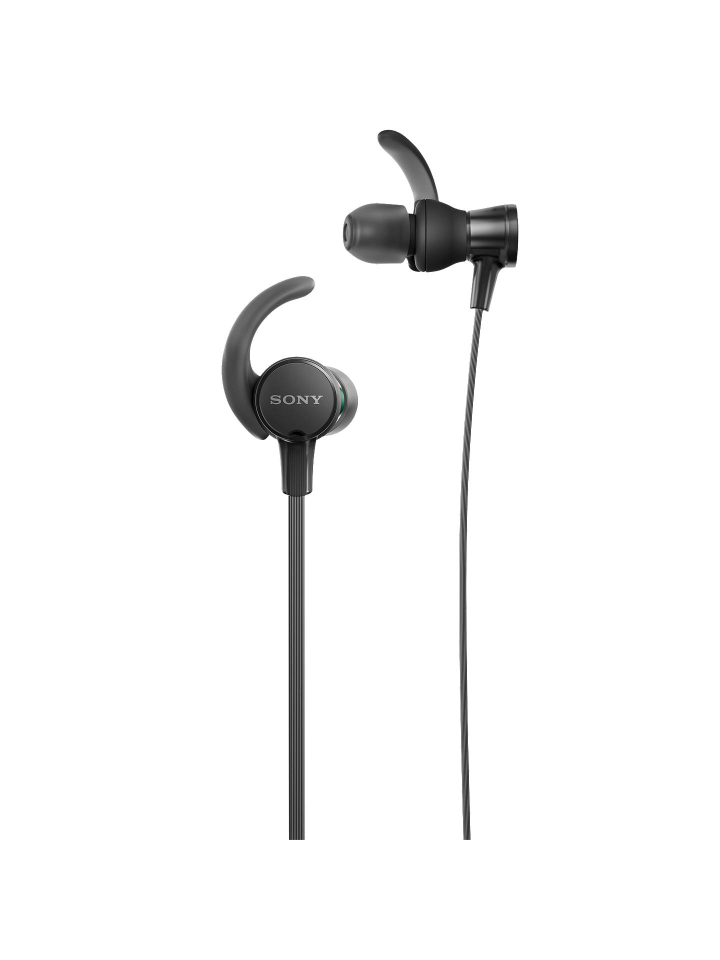 Buy Sony MDR-XB510AS Extra Bass Splash Resistant Sports In-Ear Headphones with Mic/Remote, Black Online at johnlewis.com