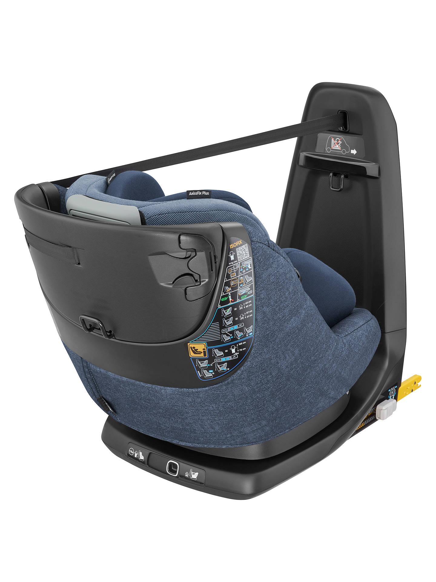 maxi cosi axissfix plus i size car seat nomad blue at john lewis partners. Black Bedroom Furniture Sets. Home Design Ideas