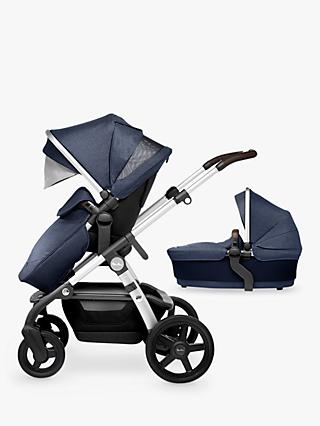 Silver Cross Wave Pushchair and Carrycot, Midnight