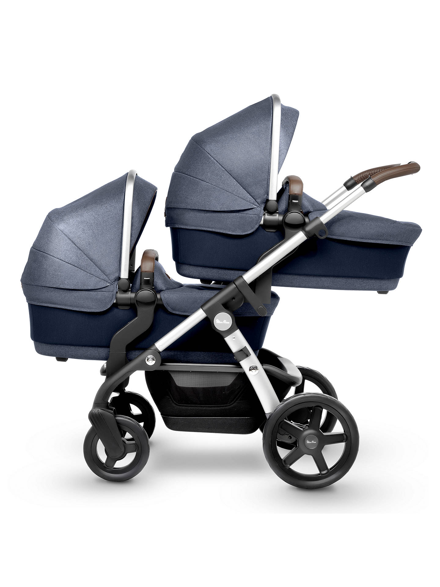 BuySilver Cross Wave Pushchair and Carrycot, Midnight Online at johnlewis.com