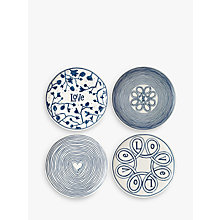Buy ED Ellen DeGeneres for Royal Doulton Blue Love 21cm Plate, Set of 4 Online at johnlewis.com