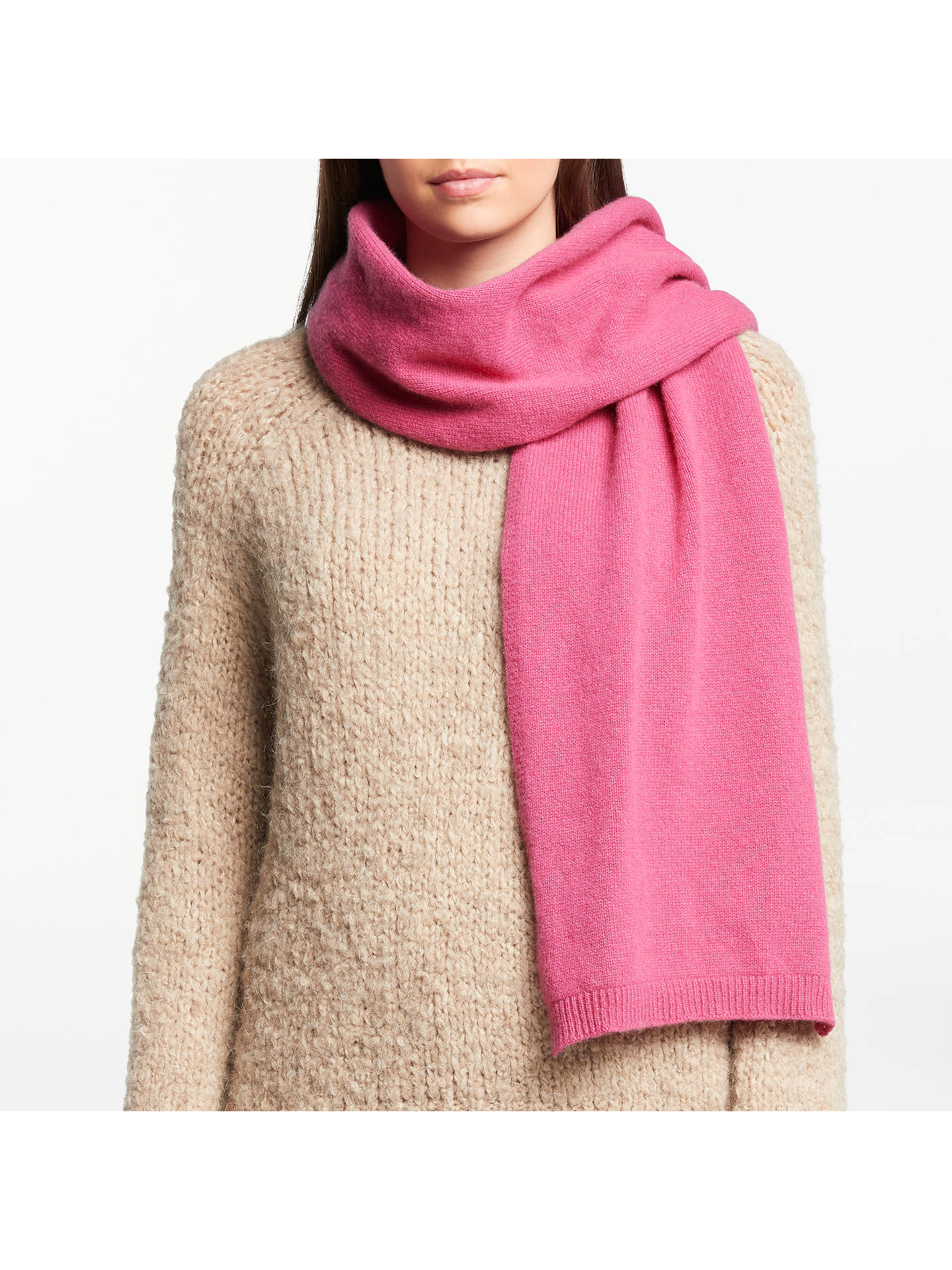 807859c75e6e2 ... Buy John Lewis & Partners Cashmere Scarf, Pink Online at johnlewis. ...