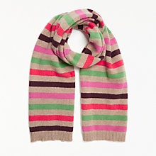 Buy John Lewis Striped Cashmere Scarf, Multi Online at johnlewis.com