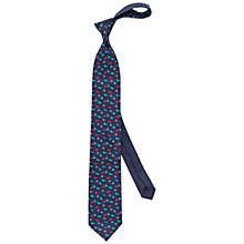 Buy Thomas Pink Lion Print Silk Tie, Navy/Pink Online at johnlewis.com
