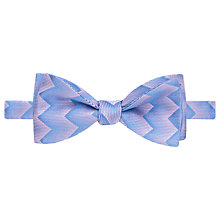 Buy Thomas Pink Wylie Geo Self Tie Silk Bow Tie, Blue/Pink Online at johnlewis.com