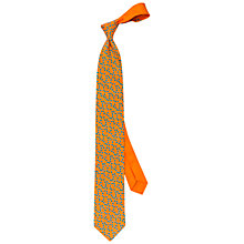 Buy Thomas Pink Cherry Print Silk Tie, Orange/Blue Online at johnlewis.com
