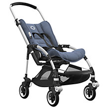 Buy Bugaboo Bee5 Complete Pushchair, Aluminium with Black Handles and Blue Melange Fabric Online at johnlewis.com
