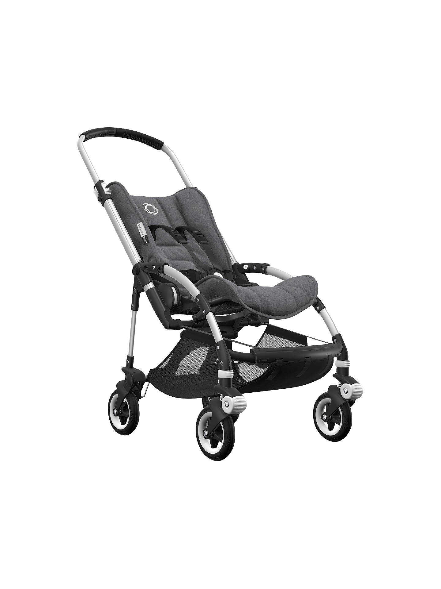 BuyBugaboo Bee5 Complete Pushchair, Aluminium with Black Handles and Grey Melange Fabric Online at johnlewis.com