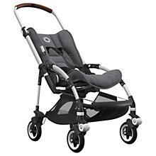 Buy Bugaboo Bee5 Complete Pushchair, Aluminium Base with Cognac Handles and Grey Melange Fabric Online at johnlewis.com