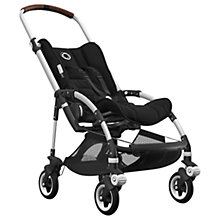 Buy Bugaboo Bee5 Complete Pushchair, Aluminium Base with Cognac Handles and Black Fabric Online at johnlewis.com