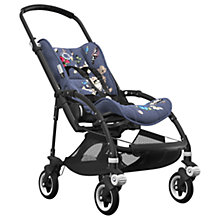 Buy Bugaboo Bee5 Complete Pushchair, Black with Black Handles and Botanic Fabric Online at johnlewis.com