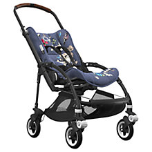 Buy Bugaboo Bee5 Complete Pushchair, Black with Cognac Handles and Botanic Fabric Online at johnlewis.com