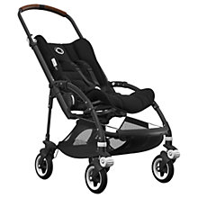 Buy Bugaboo Bee5 Complete Pushchair, Black Base with Cognac Handles and Black Fabric Online at johnlewis.com