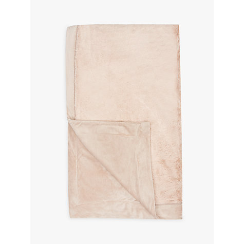 Buy John Lewis Luxury Plush Fleece Throw Online at johnlewis.com