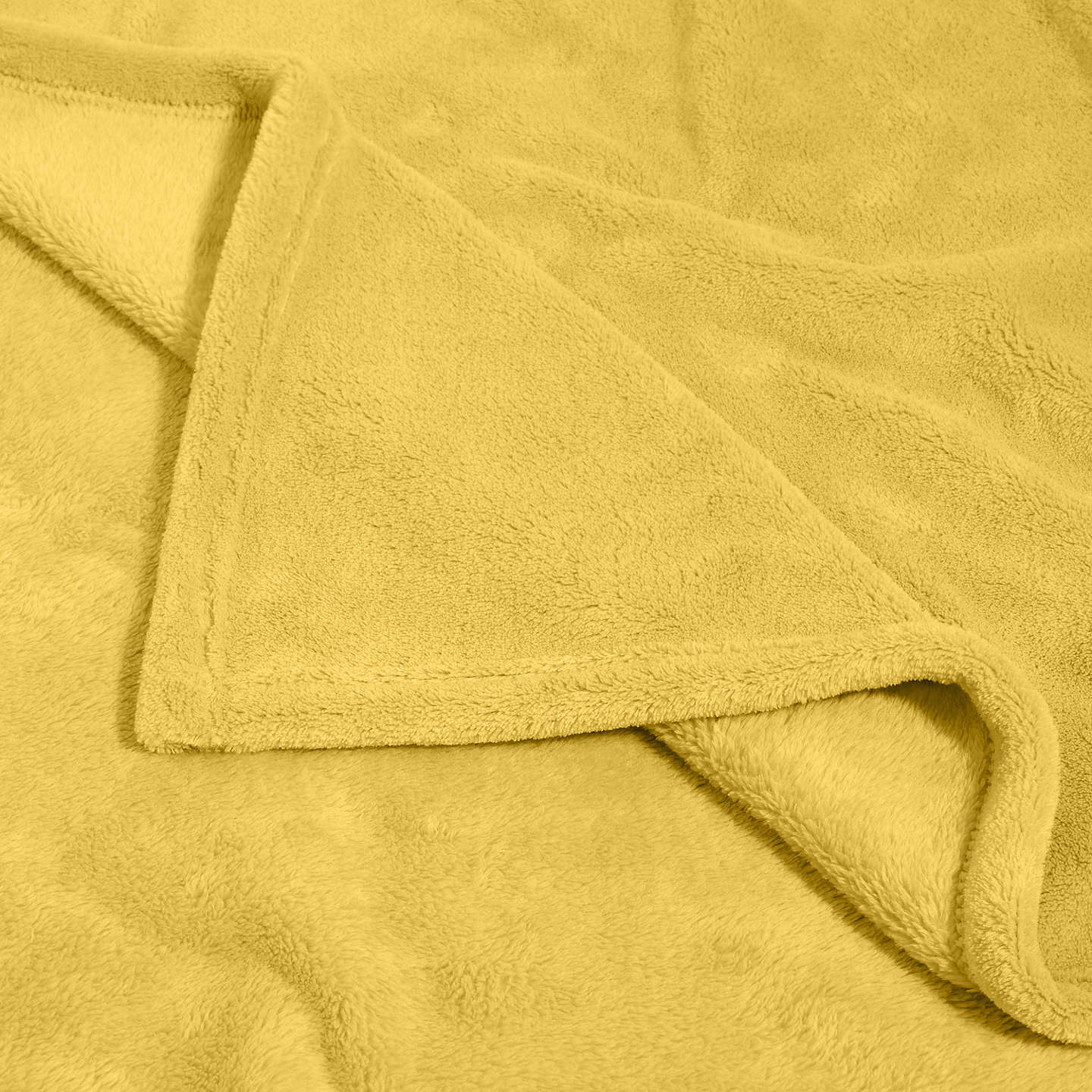 BuyJohn Lewis Fleece Throw, Citrine Online at johnlewis.com