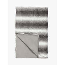 Buy John Lewis Stripe Faux Fur Throw Online at johnlewis.com