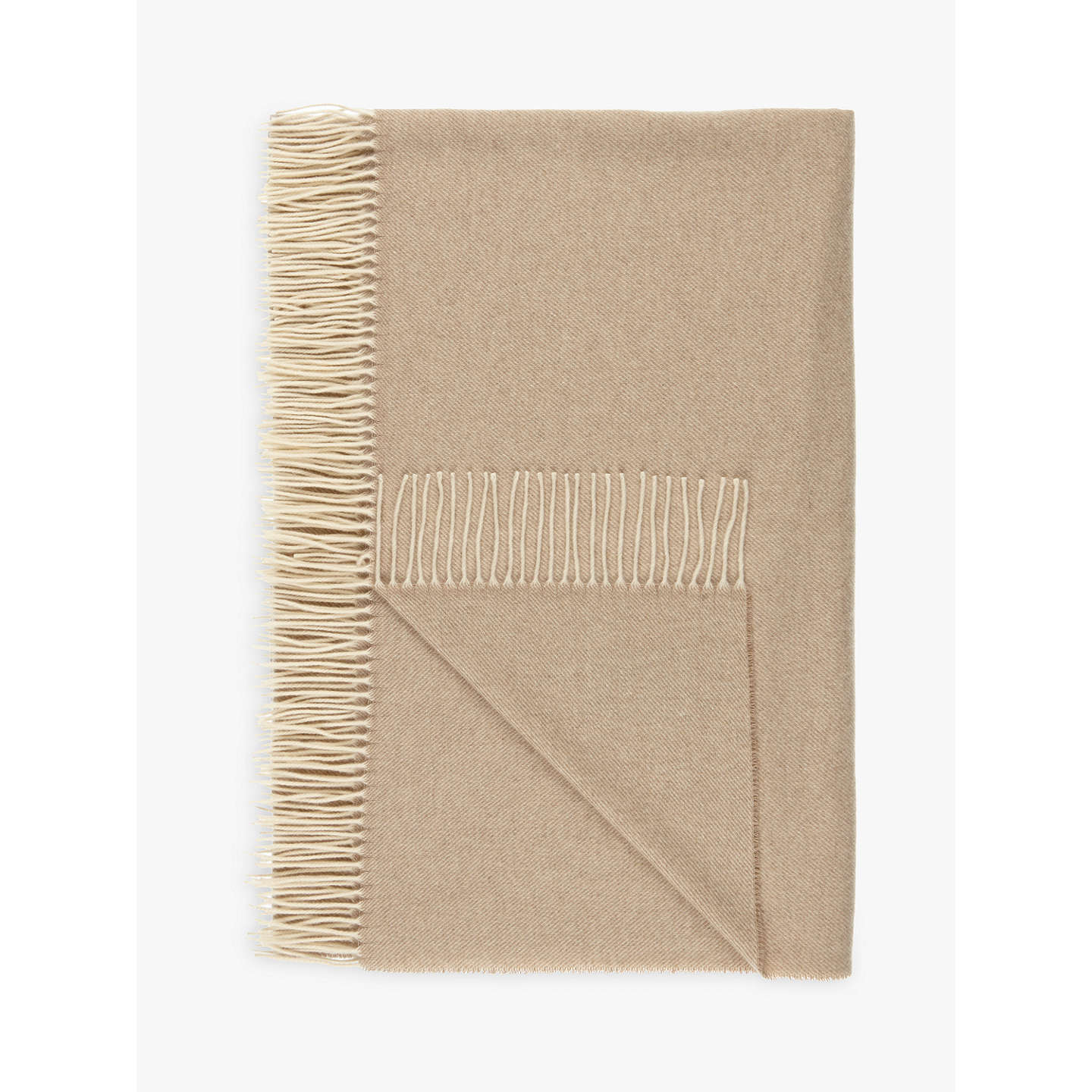 BuyCroft Collection 100% Cashmere Throw, Natural Online at johnlewis.com