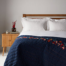 Buy John Lewis Folklore Crest Quilted Cotton Bedspread Online at johnlewis.com