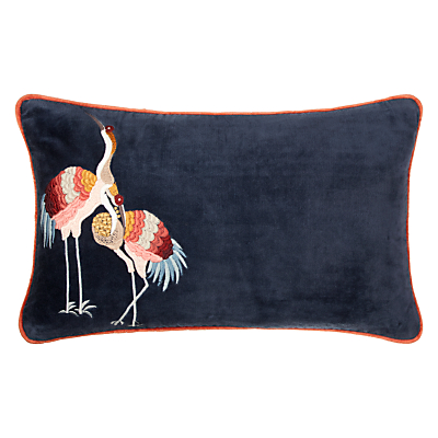John Lewis Sarus Crane Embroidered Cushion