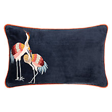 Buy John Lewis Sarus Crane Embroidered Cushion Online at johnlewis.com