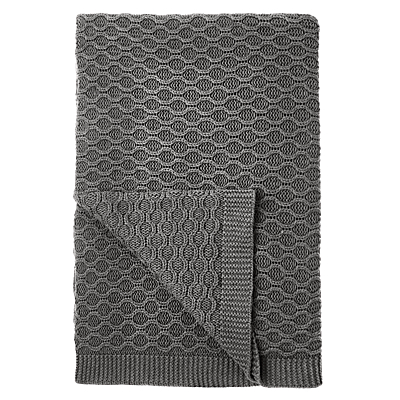 Croft Collection Cotton Chain Knit Throw