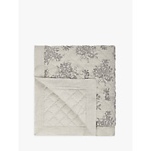Buy John Lewis Rose Floral Quilted Linen Bedspread Online at johnlewis.com