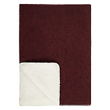 Buy House by John Lewis Sherpa Throw, Burgundy Online at johnlewis.com