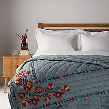Buy John Lewis Folklore Wreath Embroidered Quilted Bedspread Online at johnlewis.com
