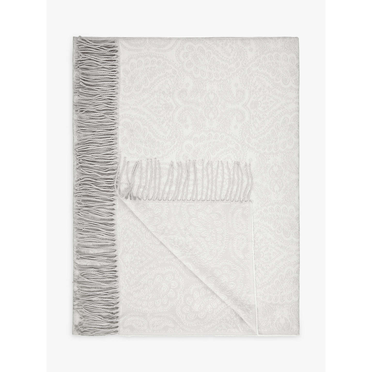 BuyJohn Lewis Paisley Weave Throw, White Online at johnlewis.com