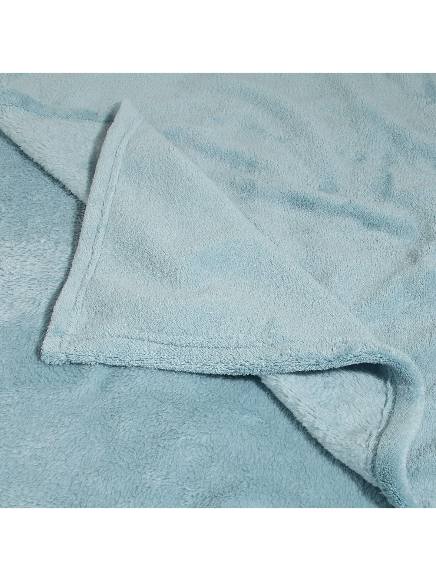 BuyJohn Lewis & Partners Fleece Throw, Duck Egg Online at johnlewis.com