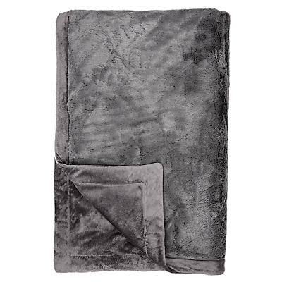 John Lewis Luxury Plush Fleece Throw