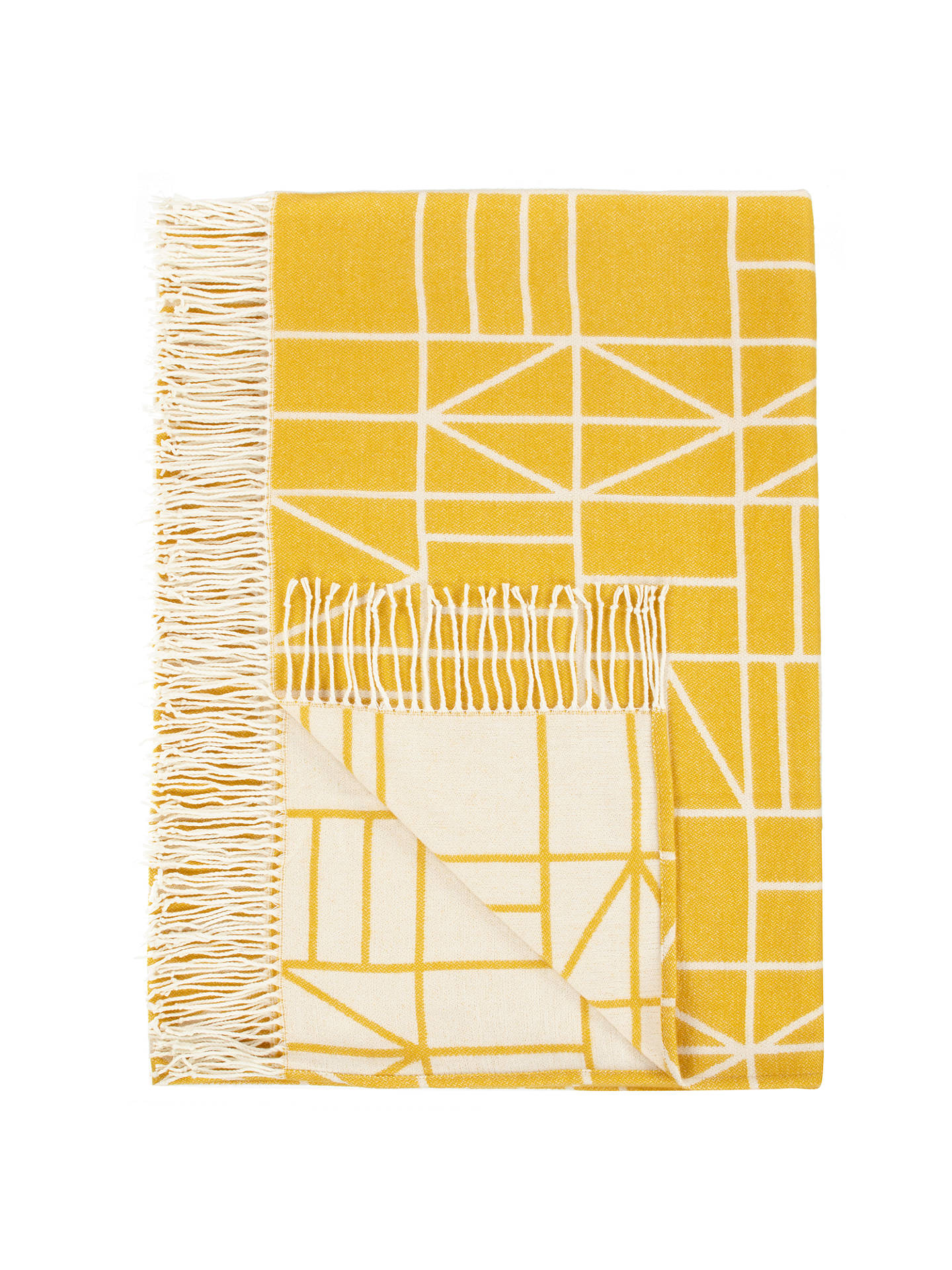 Buy House by John Lewis Court Throw, Mustard Online at johnlewis.com