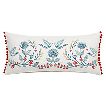 Buy John Lewis Folklore Bird Embroidered Cushion Online at johnlewis.com