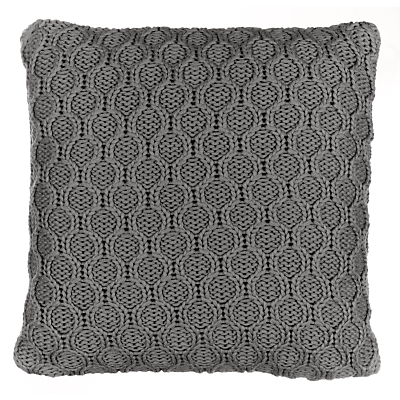 John Lewis Croft Collection Cotton Chain Knit Cushion