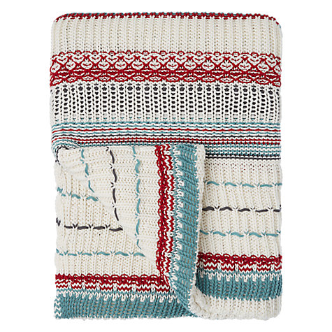 Buy John Lewis Folklore Welsh Knit Cotton Throw Online at johnlewis.com