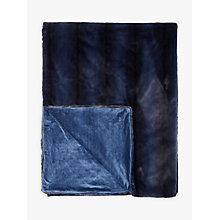 Buy John Lewis Premium Faux Fur Throw, Navy Online at johnlewis.com