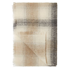 Buy Croft Collection Check Mohair Blend Throw Online at johnlewis.com