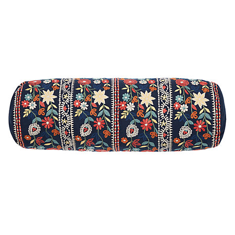 Buy John Lewis Folklore Embroidered Bolster Cushion Online at johnlewis.com