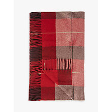 Buy John Lewis Highland Check 100% Wool Throw Online at johnlewis.com