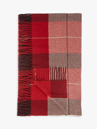 Buy John Lewis & Partners Highland Check  Throw, Red Online at johnlewis.com