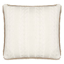 Buy John Lewis Cable Knit & Faux Fur Cushion Online at johnlewis.com