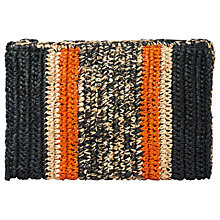Buy Whistles Pico Stripe Straw Clutch Bag, Multi Online at johnlewis.com